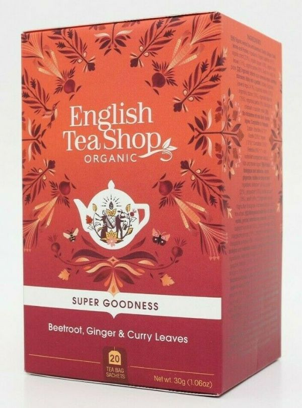 English Tea Shop Herbal Organic Tea - Beetroot, Ginger & Curry Leaves